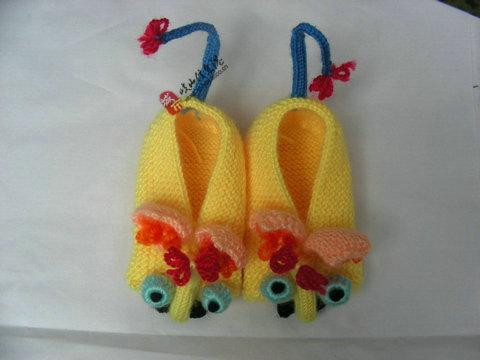 毛线手工鞋1