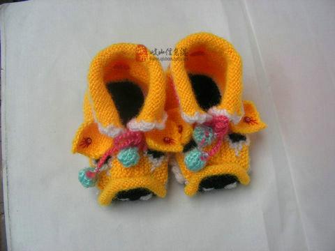 毛线手工鞋2