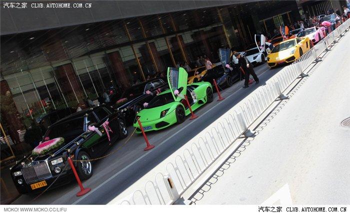 车迷必看啊北京超强的兰博基尼婚车队 高清大图 申精高清图片