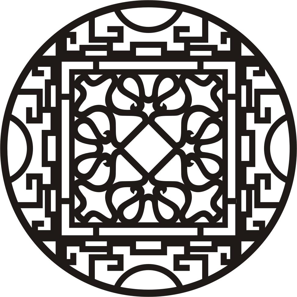 钩针圆形镂空图案图解