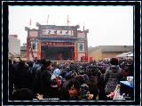 """[原创]秦安村里""""三爷""""庙会期间陕西泾阳县人民剧团登台献艺"""