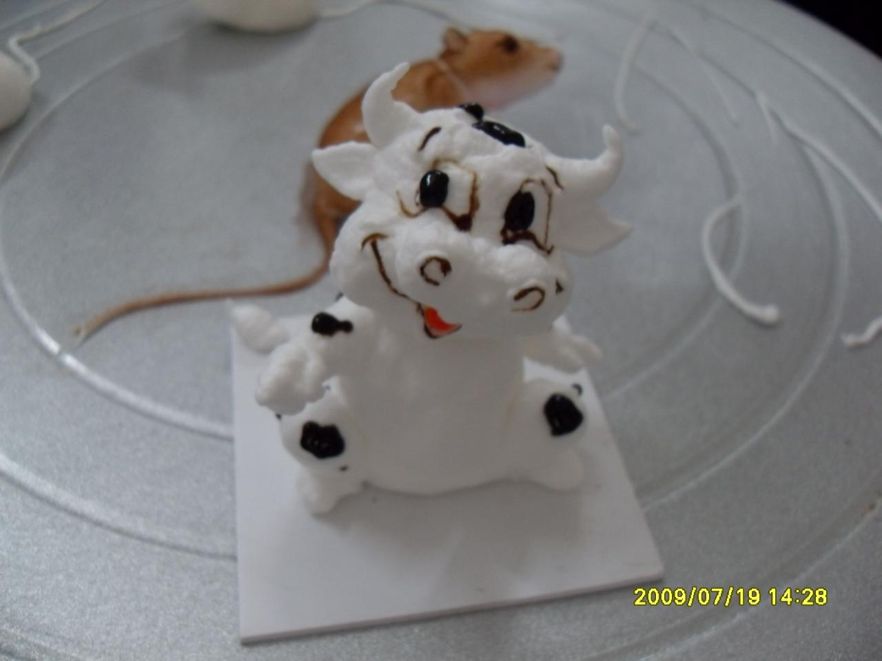 手绘狗狗蛋糕图片