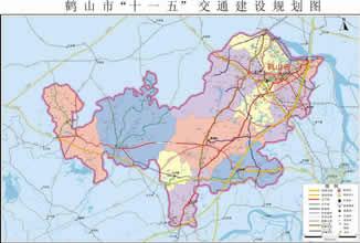 鹤山交通图图片