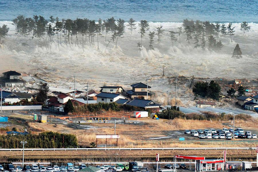 日本东海岸发生8.8级地震