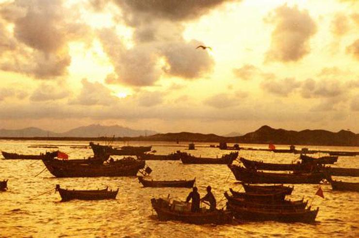 甘水湾是隔海眺望青岛前海风光的最佳位置.甘水湾是胶州.