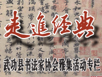 武功县书法家协会走进经典雅集活动专栏