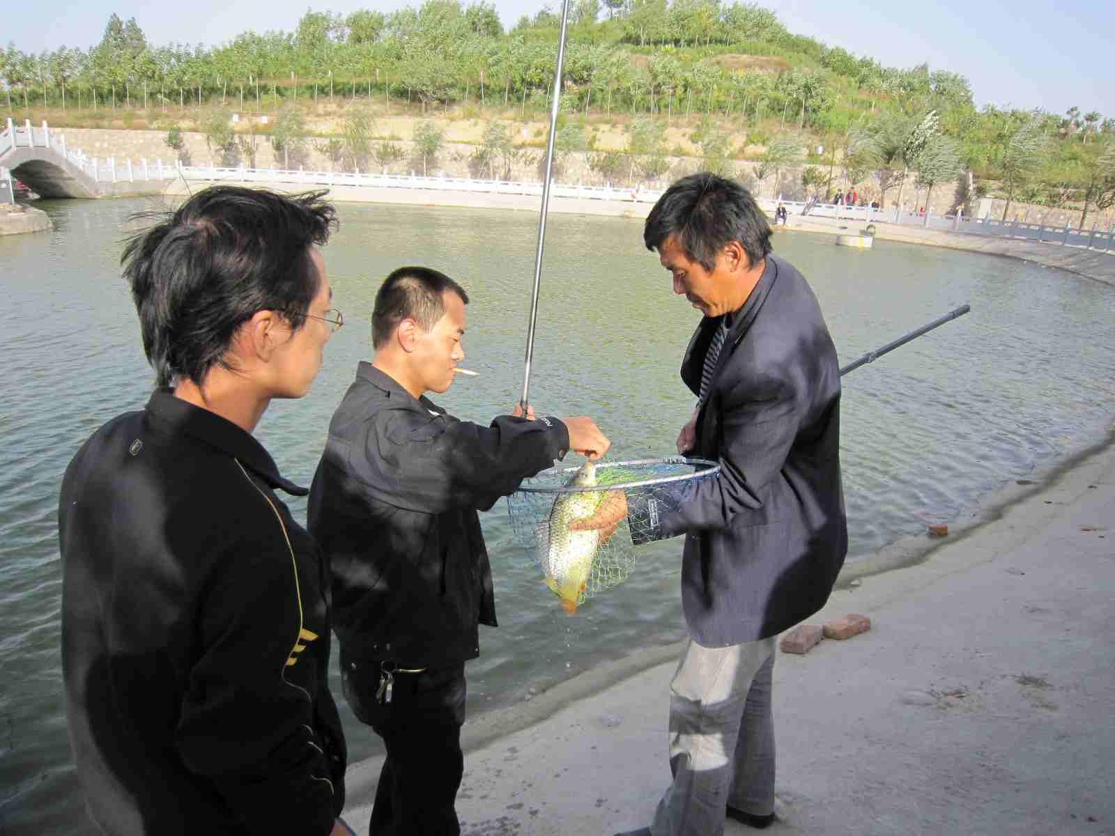 稷山民乐园人工湖钓鱼