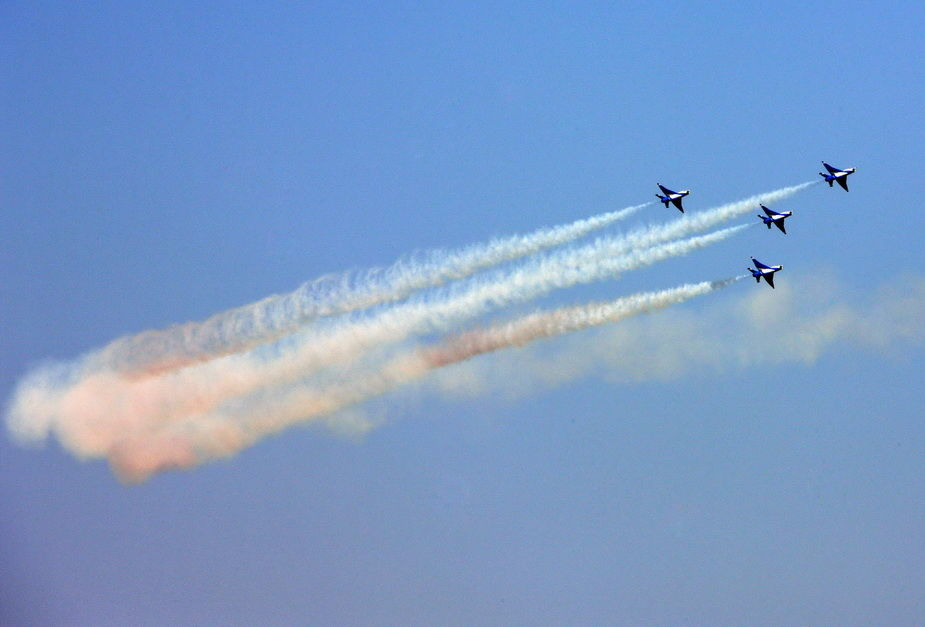 空军建军60周年活动进行预演