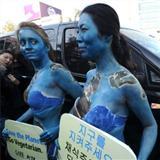韩女子裸体抗议被捕