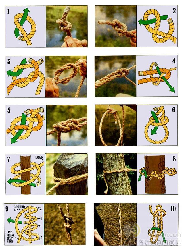 几种打绳结的方法