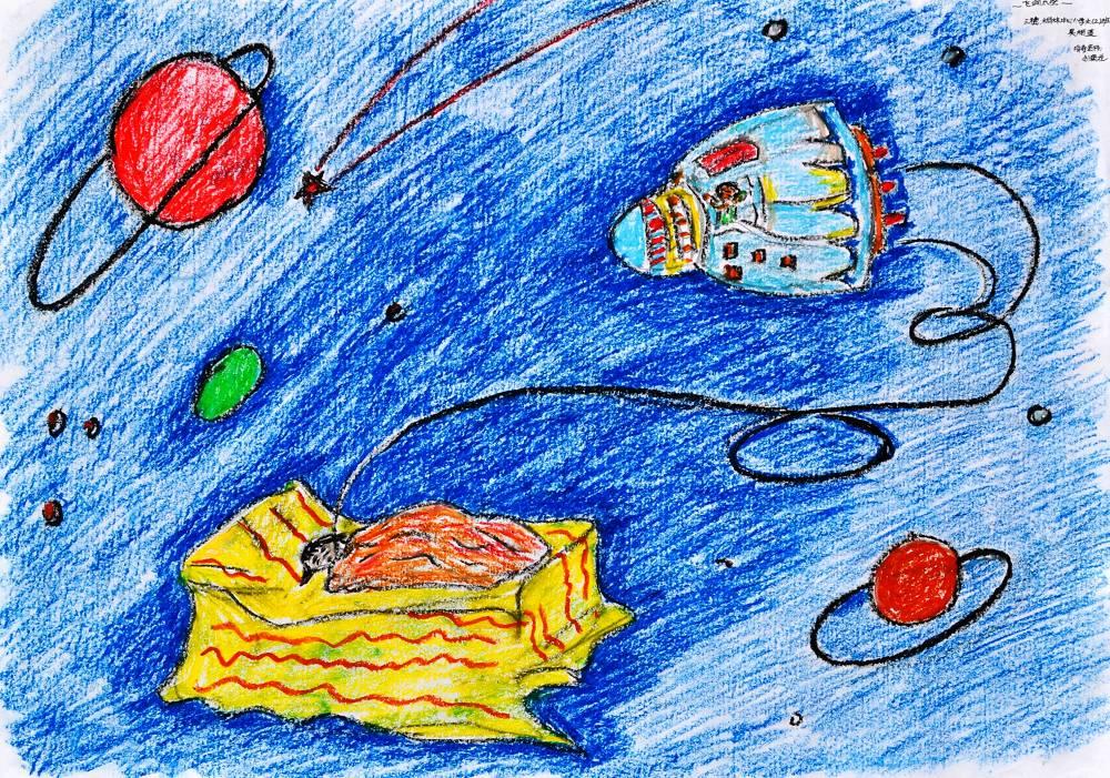 儿童科学幻想绘画作品-小学科幻画一等奖图片|最简单又好看的科幻画图片