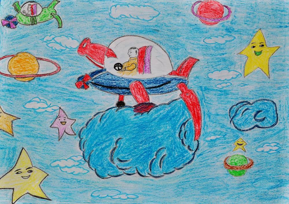 登录/注册后可查看大图      〈神奇的宇宙飞船〉桐林小学五年级陶