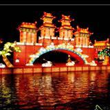 高唐北湖花灯夜景