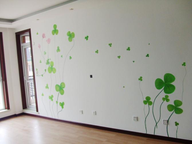 手绘墙画图案