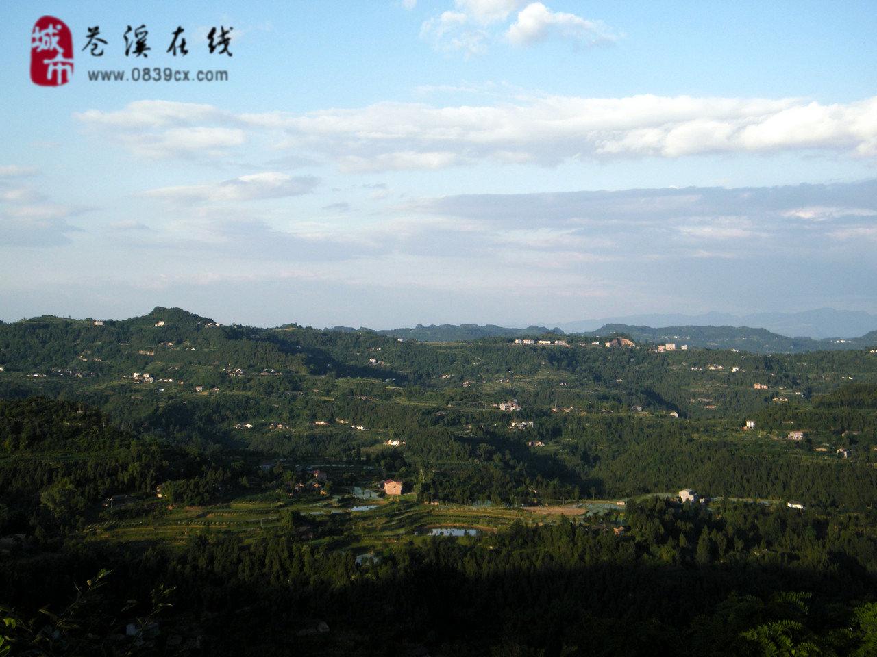美丽的苍溪白山乡风景