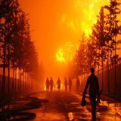 大连输油管爆炸现场:10万㎥石油从油罐流向火场