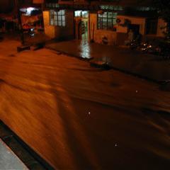 前天晚上大暴雨,南针山洪再次爆发
