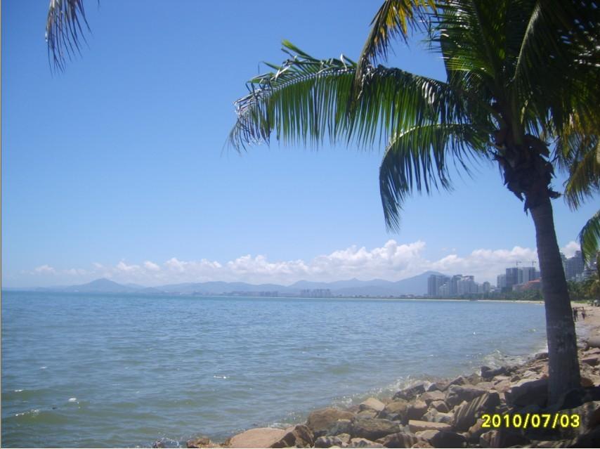 海南三亚湾美丽风景线