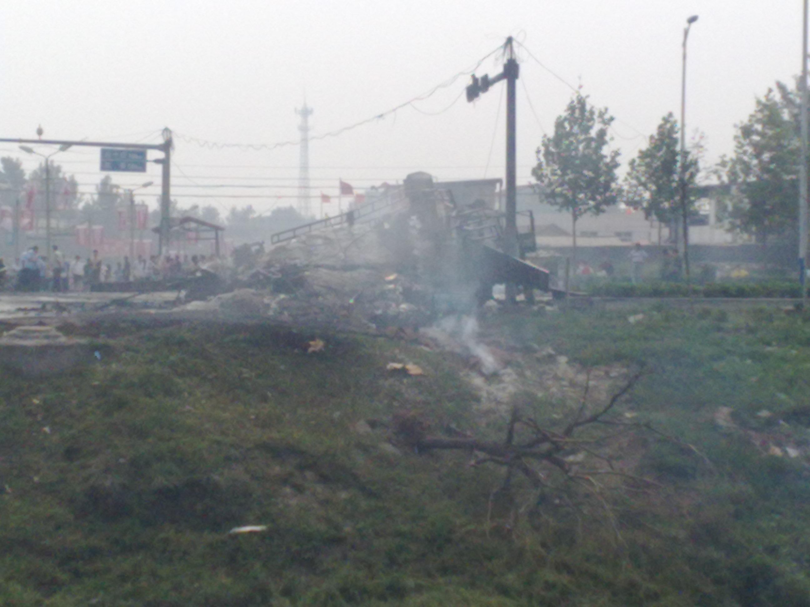 河北省晋州市307国道 发生特大爆炸事故