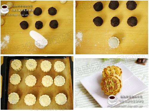 1,月饼烤制的时候要注意看,不能糊了  2,月饼花纹比较关键,感觉馅放得