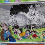 党是阳光我是苗  全县青少年现场书画大奖赛在青年圩拉开序幕