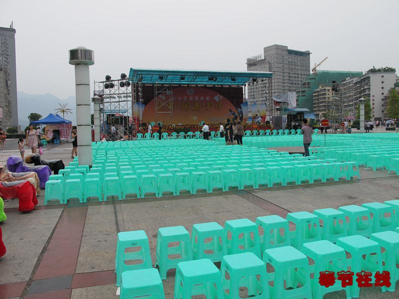 人民广场 奉节经常举办各种活动的地方