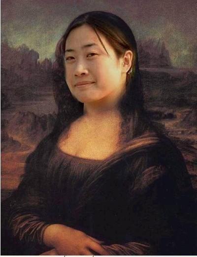 蒙娜丽莎搞笑版图片