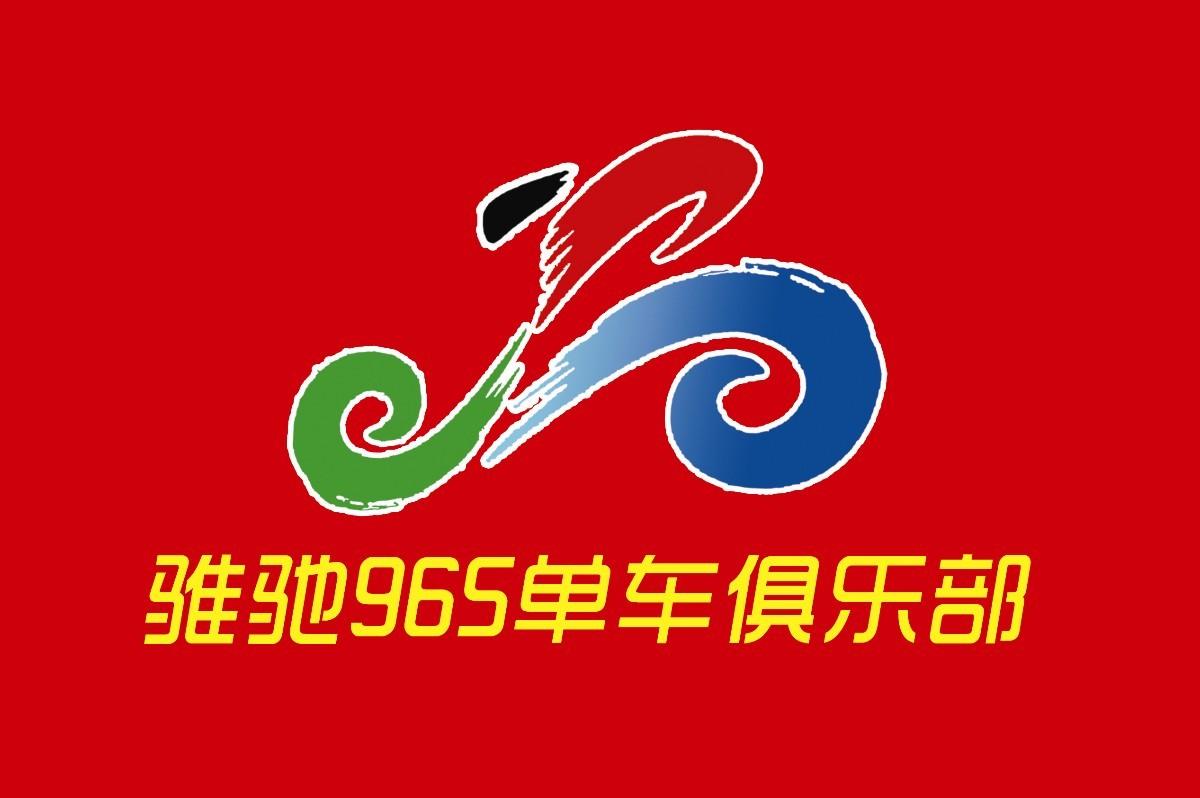 骑行队旗logo素材psd