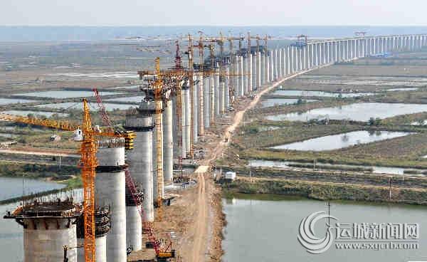 大西铁路晋陕黄河特大桥工程紧张施工