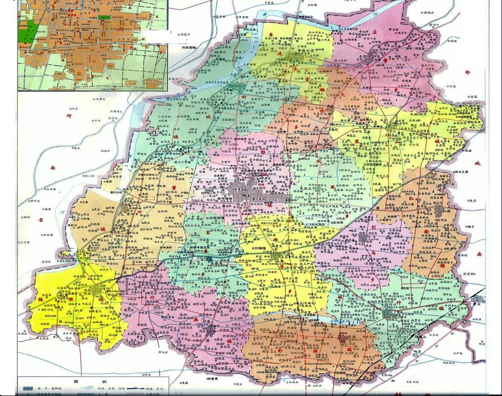 鄄城地图 鄄城行政区划图