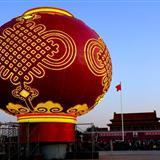 天安门广场巨型红灯笼