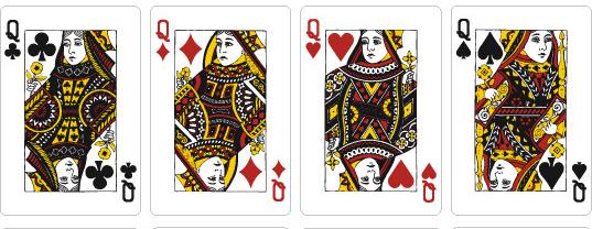 原来以为扑克牌是随便画的