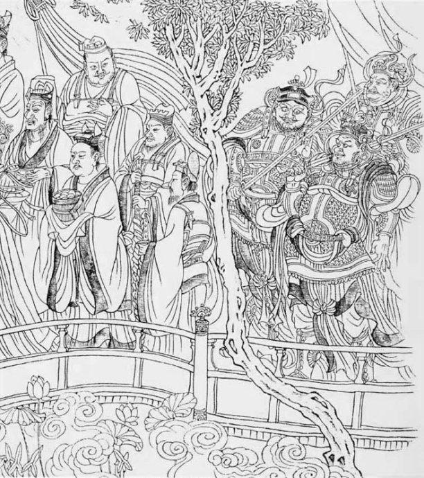 心怡画作《花中仙》 从读中学时开始,我就疯狂地喜爱画画。 当时虽然因为忙着升学的关系,没有专门拜师学画,但妈妈为我们添购了许多的课外读物,在潜移默化间,它们不知不觉地成了我的家庭绘画老师。记得其中有一套画册是我最喜欢的,这套书介绍了中国古代知名的壁画和石刻经典,包括了敦煌壁画、永乐宫壁画、吴道子《八十七神仙卷》我的心,就随着那些出入云霞之间的神仙人物而幽游于想象的天空!  唐朝大画家吴道子的经典画作《八十七神仙卷》  人物的表情、服装描绘细致生动  虽是神仙图,却有着丰富活泼的人情味 虽是白描作品,却显