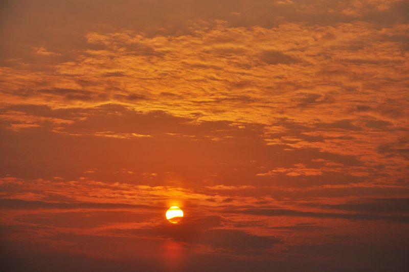 【莘县吧】红红的太阳映红了天(摄于2011年12月13日早)