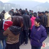 彭水县城乌江桥如今变成步行桥