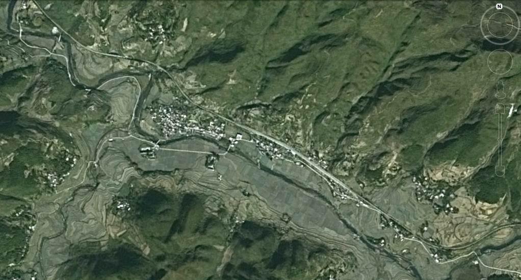 乐坪村地图(谷歌卫星地图)