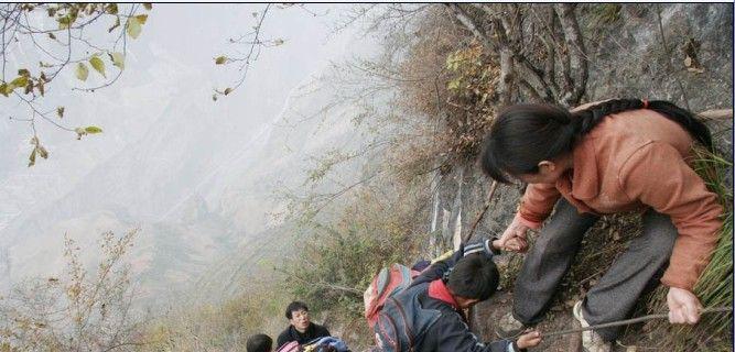 李桂林是四川凉山甘洛县乌史大桥乡二坪村的教师,妻子陆建芬是代课图片