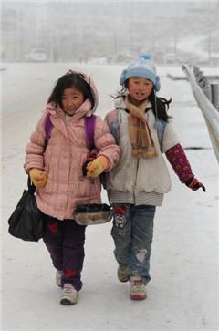 冰雪凝冻天气持续,湘桂黔部分中小学提前放假