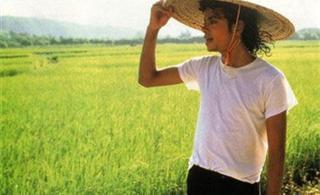 杰克逊87年中国内地游照片曝光体验乡村生活