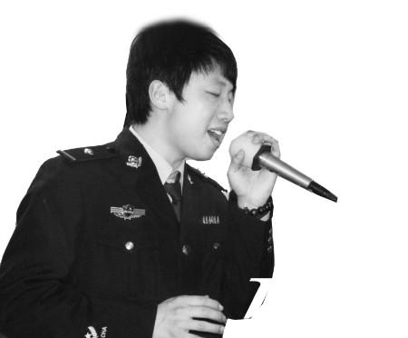 """80后民警创作歌曲""""因为我是警察""""蹿红网络(图)"""
