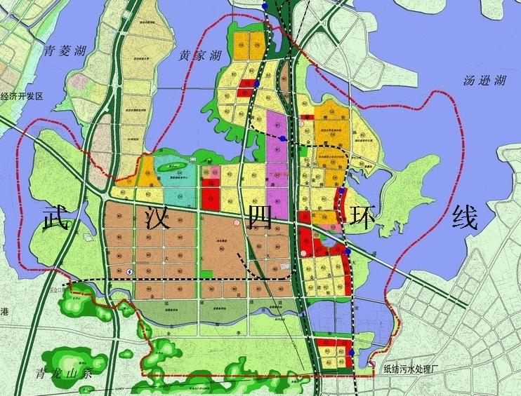 新区路网交错,京广铁路,107国道,纸李公路,青郑高速与中心城区,京珠