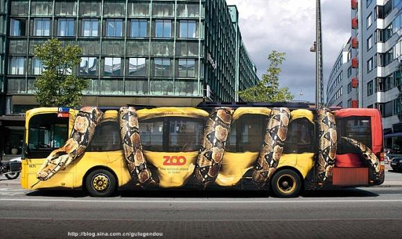 看世界各国怎样做公交车广告