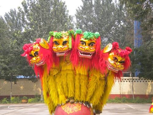 徐水狮舞简笔画步骤