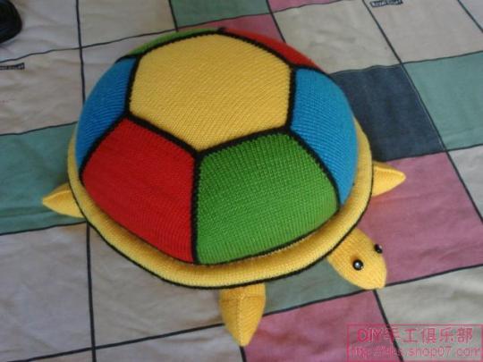 金龟子 企鹅 龟 南瓜 苹果靠垫编织法