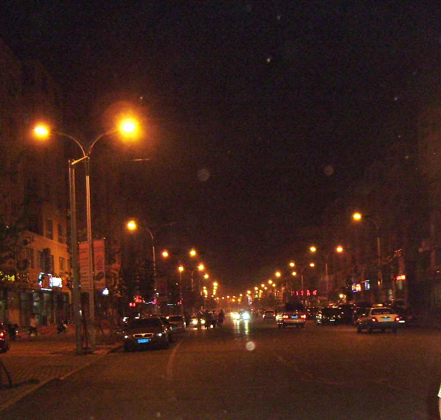 第一次拍马路夜景.图片
