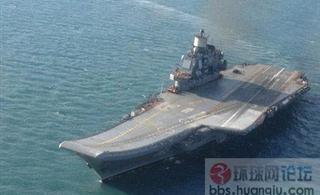 中国瓦良格号航母出海试航
