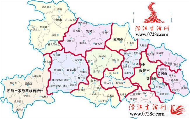 网络地图意味湖北行政区划即将大面积调整?图片
