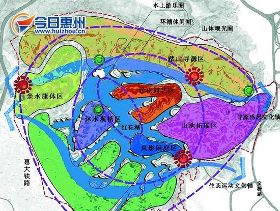 惠州红花湖景区中心区详细规划(图)
