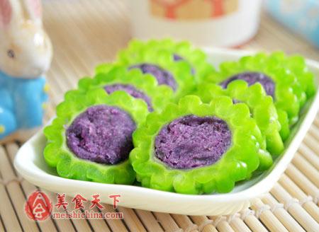 夏日减肥首推食材-紫薯苦瓜圈