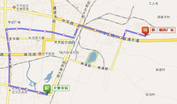 齐齐哈尔公交线路及站点大全